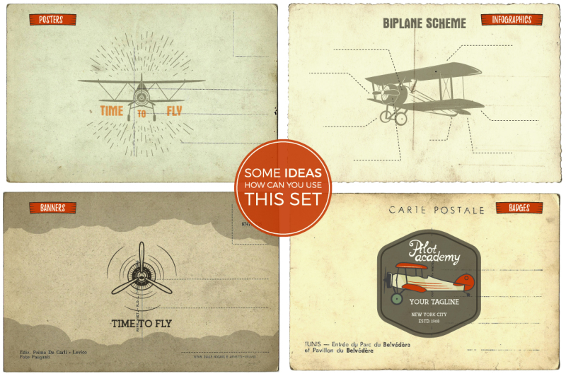 airplane-badges-and-design-elements