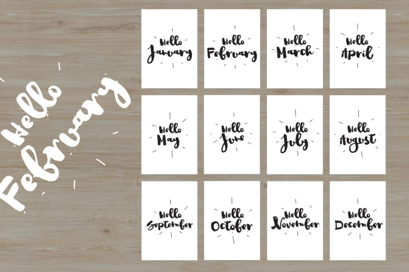 hello-month-cards-with-12-months