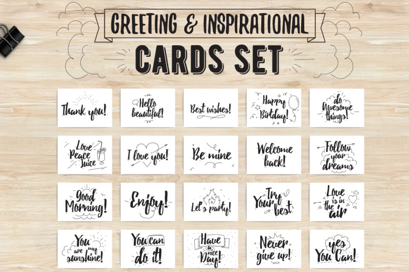 greeting-and-inspirational-cards-set