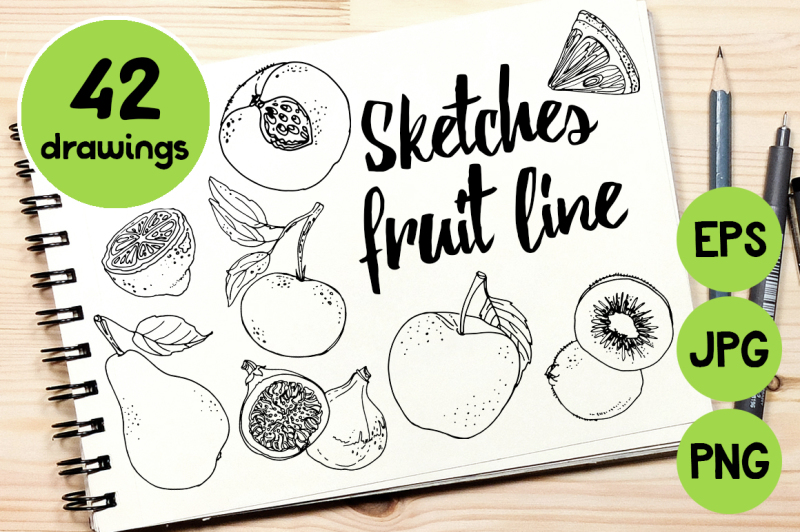 sketches-fruit-line