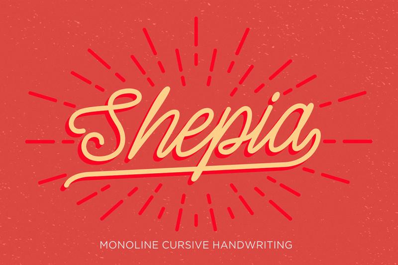 shepia-script