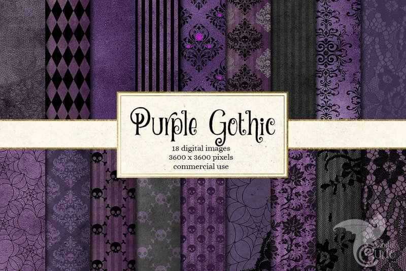 purple-gothic-digital-paper