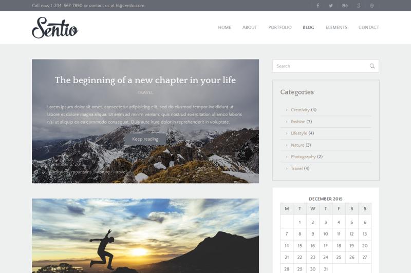 sentio-pro-creative-clean-blog-wordpress-theme