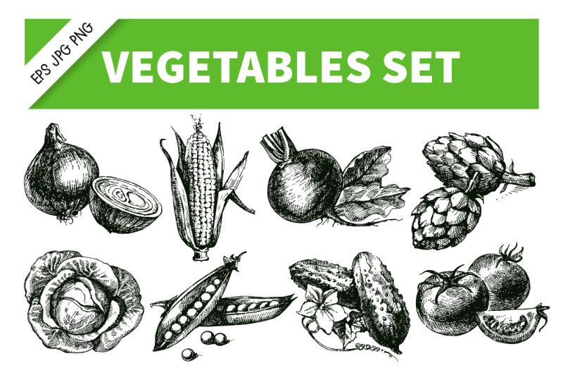 vegetables-hand-drawn-sketch-vector-set-1
