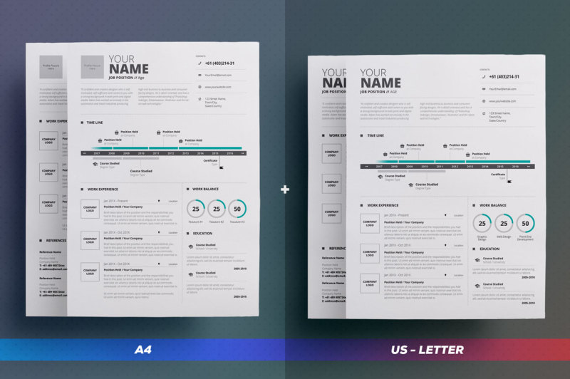 2-pages-infographic-resume-vol-5