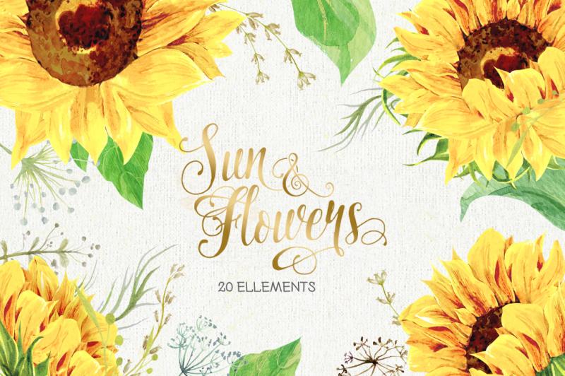 sunflowers-clipart
