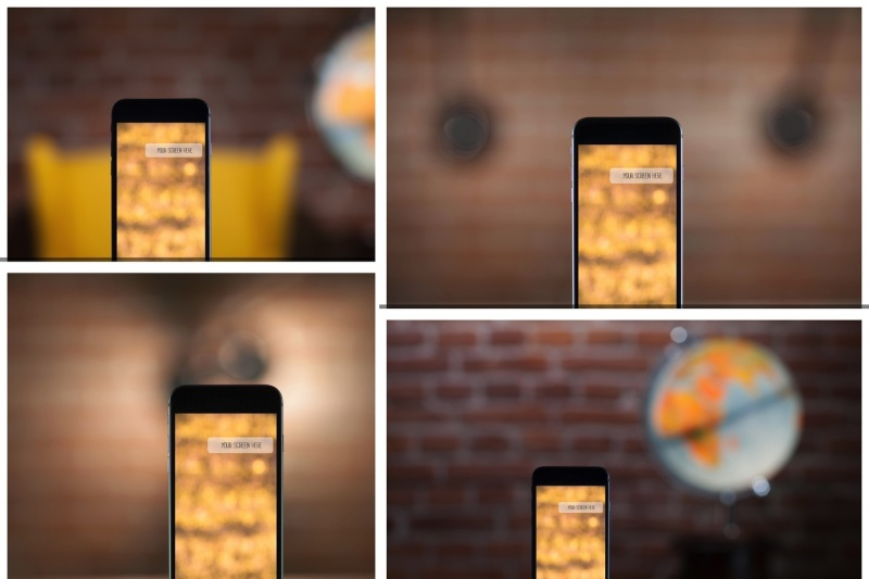 Free Set from 4 iPhone mockups (PSD Mockups)