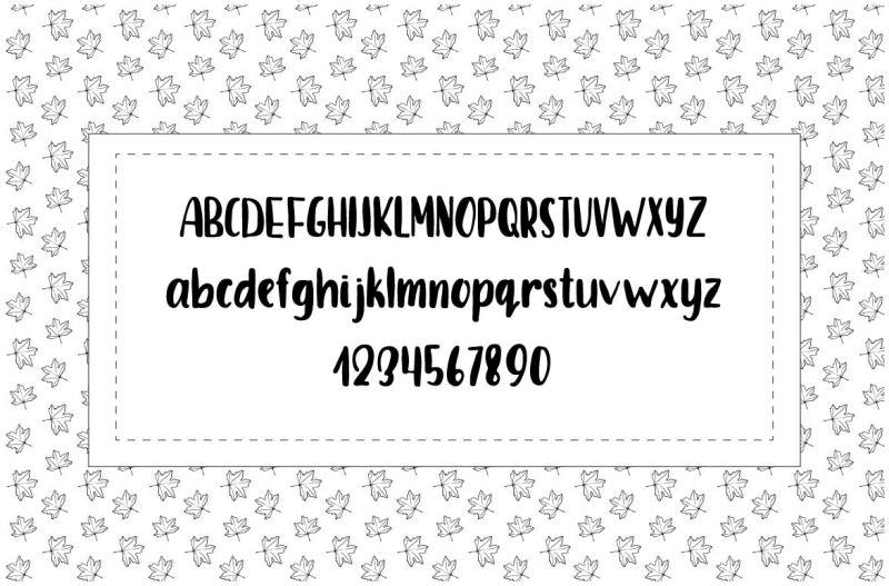 september-font-and-doodles