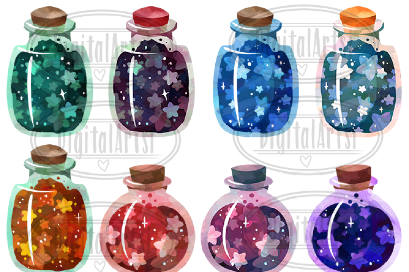 watercolor-bottled-stars-clipart