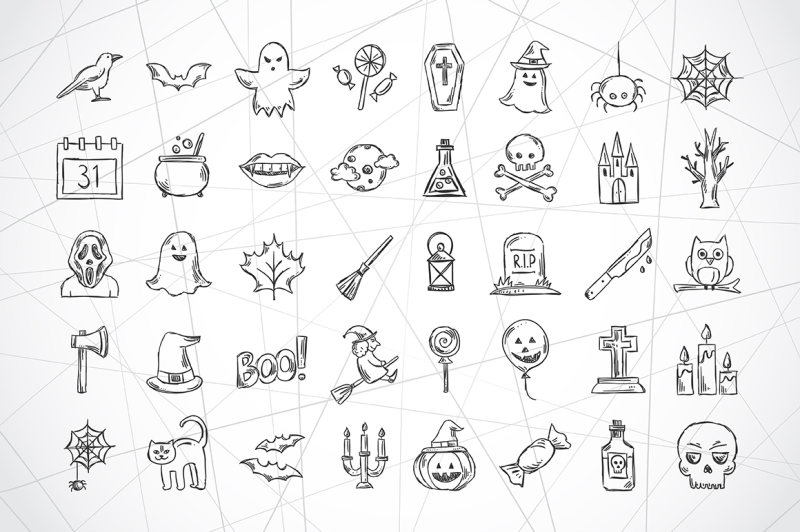 halloween-sketch-illustrations