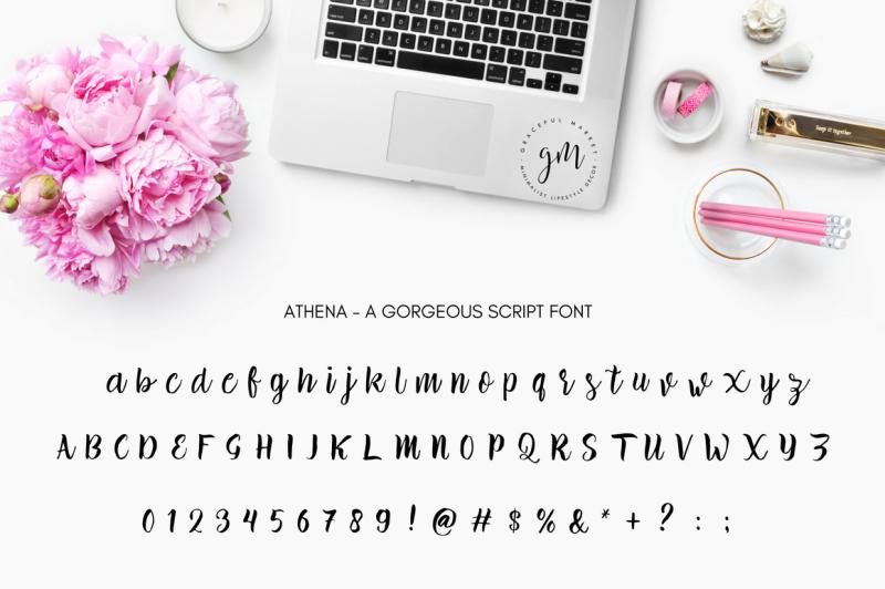 athena-script-font
