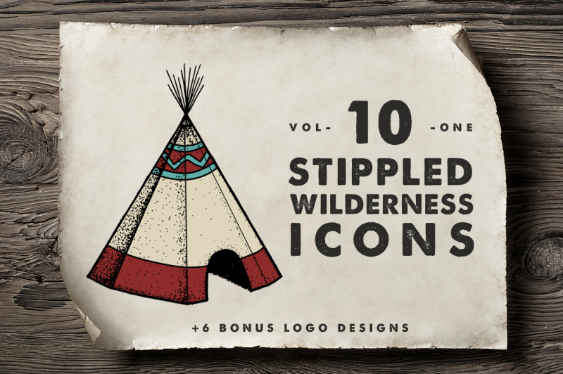 10-stippled-wilderness-icons-logos