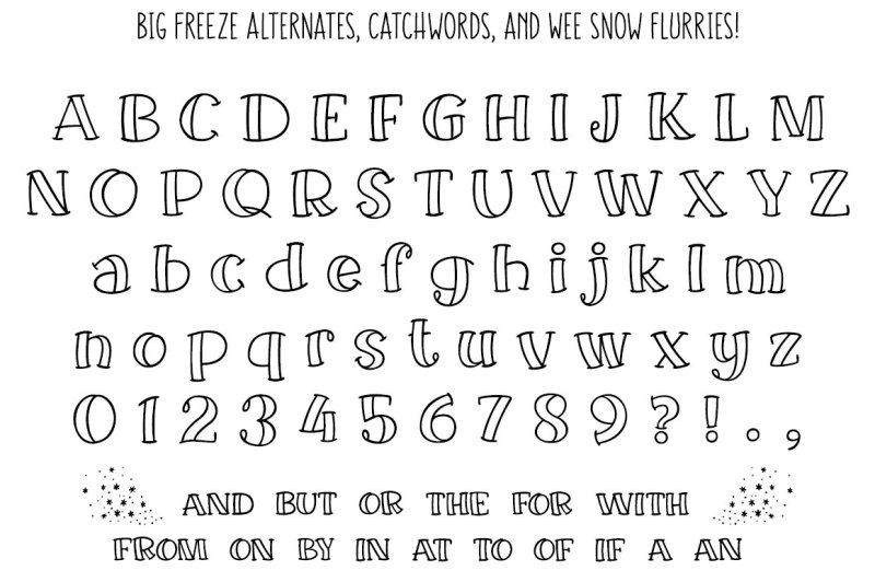 big-freeze-and-big-frost-winter-font-duo