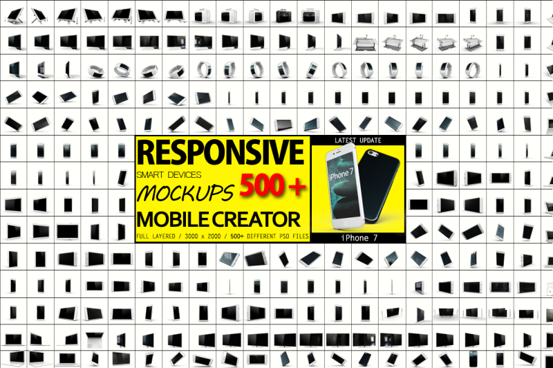 Free 500+ Smart Devices - Only $29 (PSD Mockups)