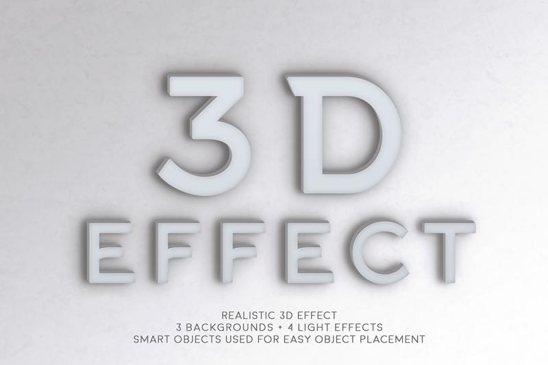 Free 3D Effect (PSD Mockups)