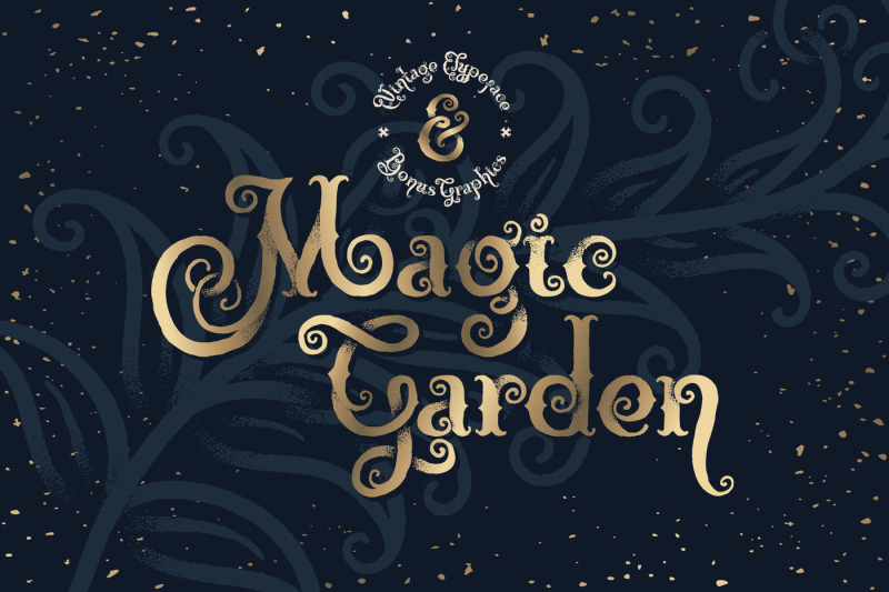 magic-garden-font-and-graphics