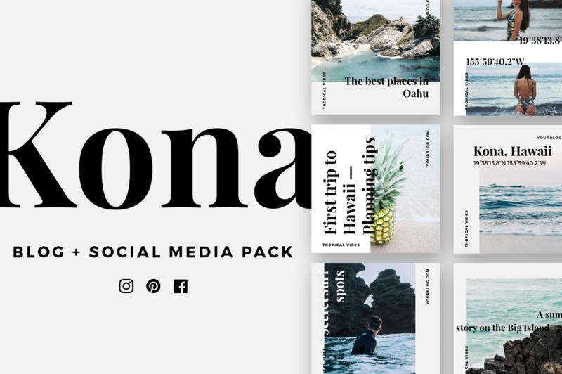 kona-social-media-pack