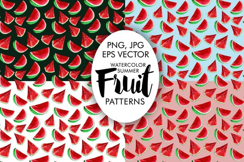 watercolor-summer-patterns-fruits