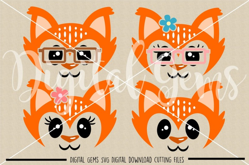 fox-faces-svg-dxf-eps-png-files