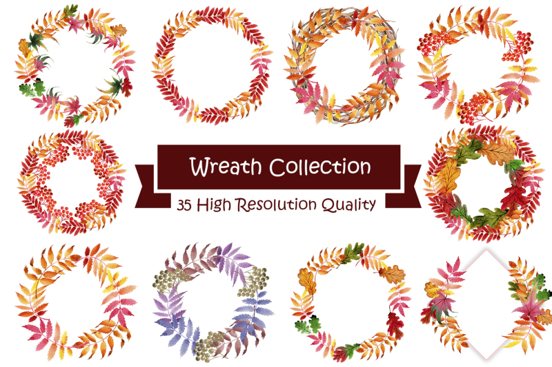 wreath-collection-png-watercolor-set