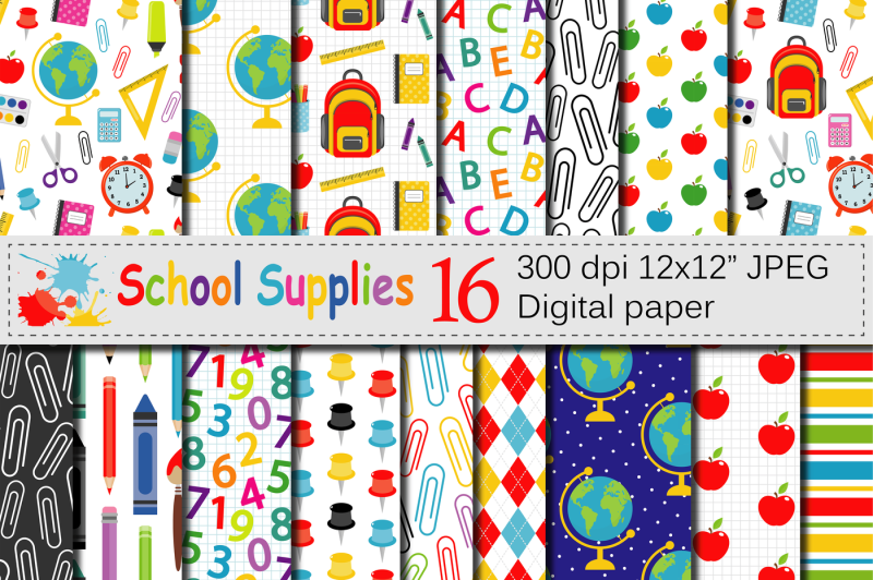 back-to-school-digital-paper-school-supplies-pattern-background