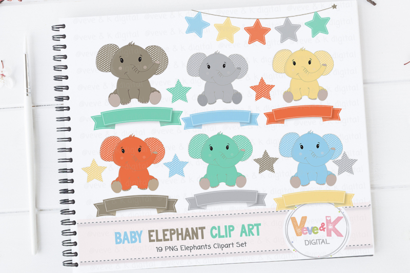 cute-baby-elephants-clipart-set