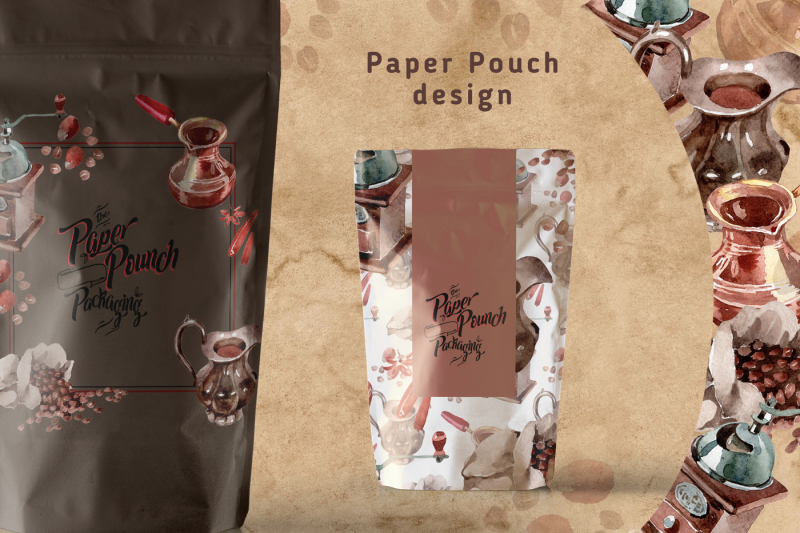 coffee-house-png-watercolor-set