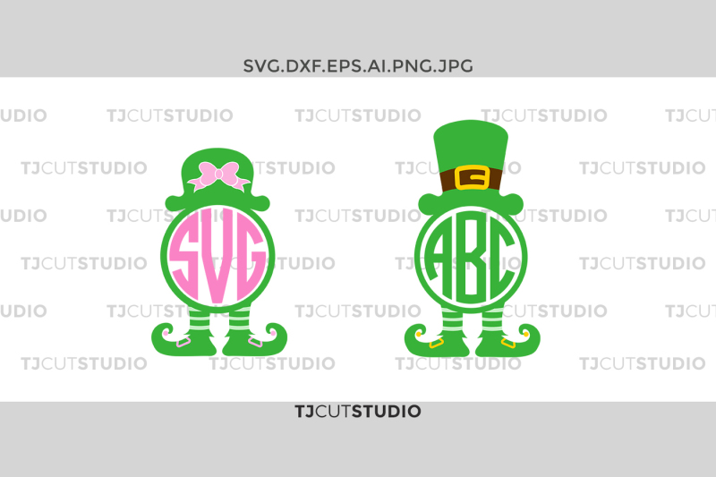 leprechaun-monogram-svg-st-patrick-monogram-svg-leprechaun-hat-svg