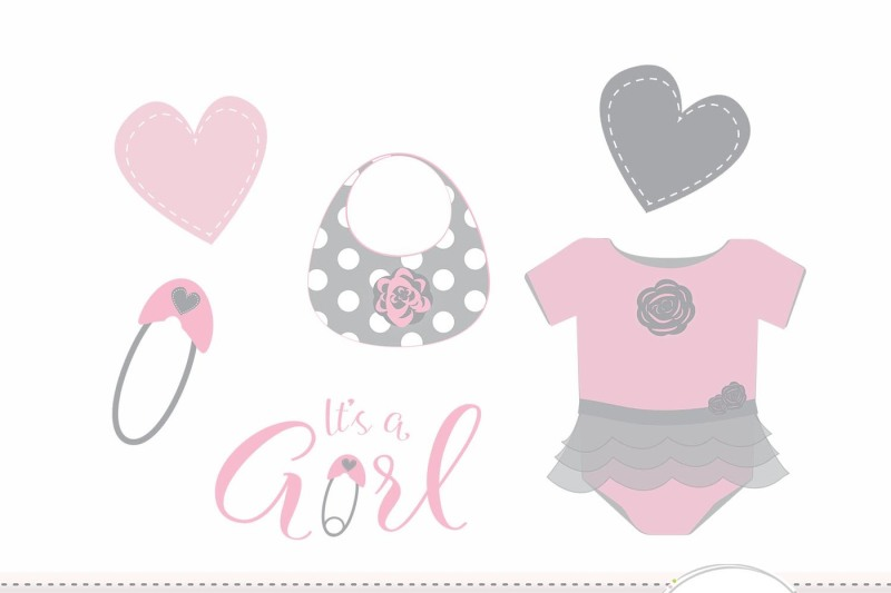 pink-baby-girl-clipart-set-newborn-baby-girl-clipart-set