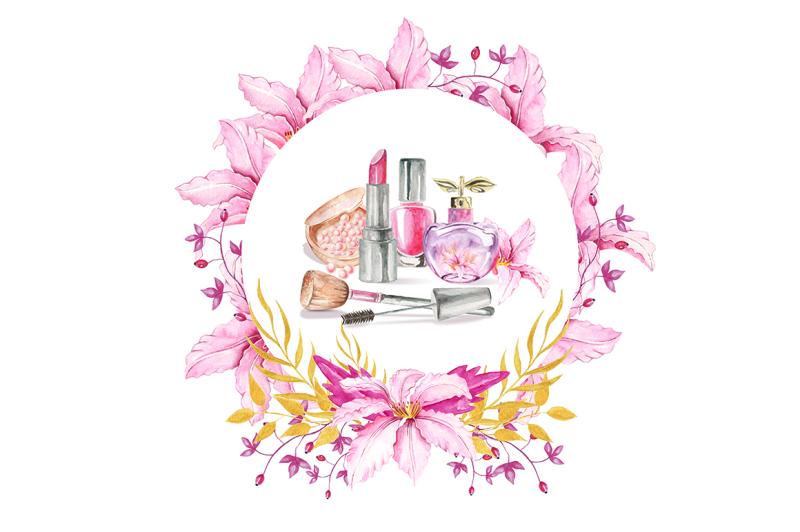 watercolor-beauty-clip-art-make-up-wedding-fashion