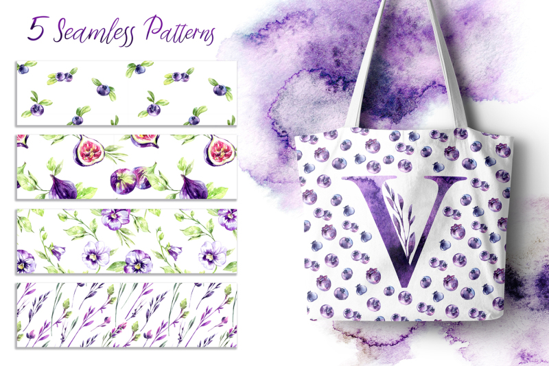 violet-melody-watercolor-collection