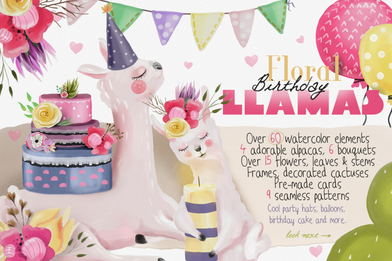 floral-birthday-llamas