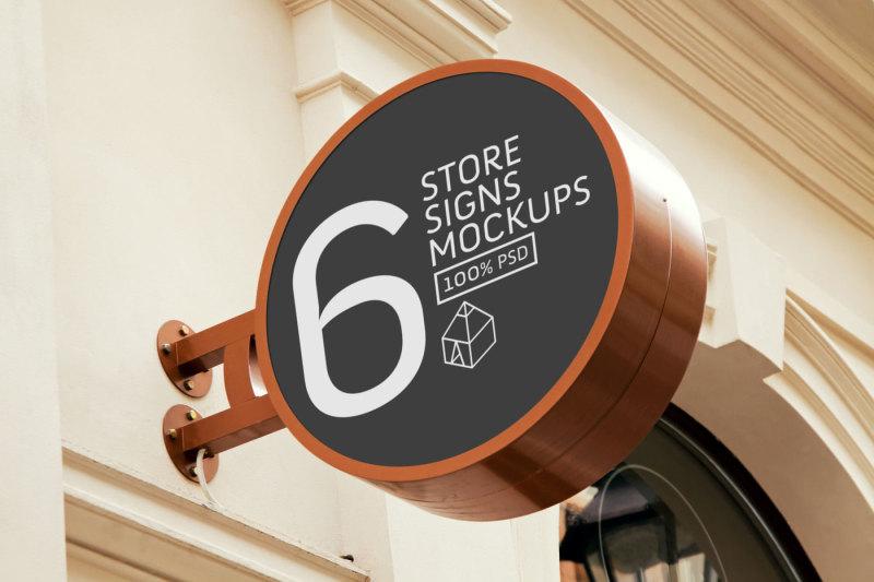 4-store-sign-mock-ups-set-bundle