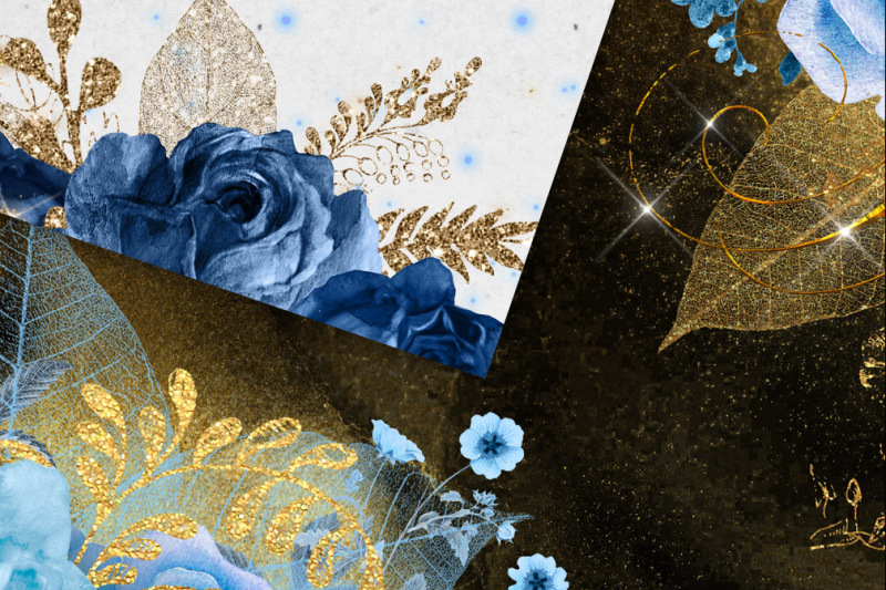 5x7-blue-and-gold-floral-overlays