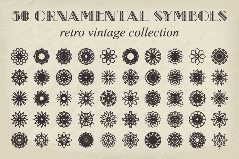 50-vector-ornamental-symbols