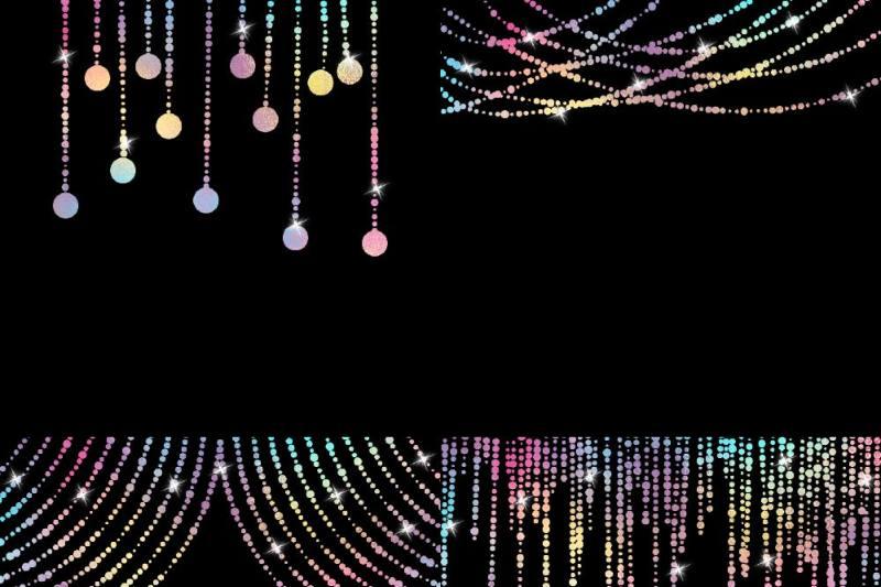 unicorn-colors-string-lights-clipart