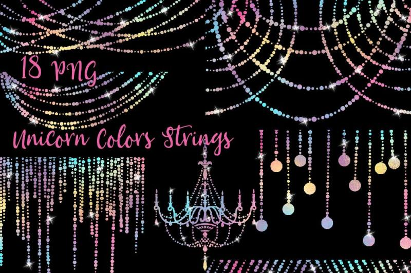 unicorn-colors-string-lights-clipart