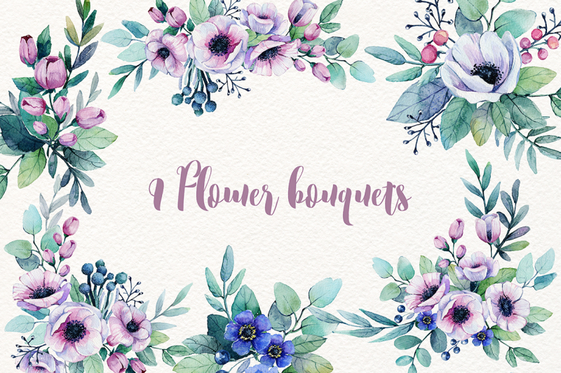 flowers-watercolor-set