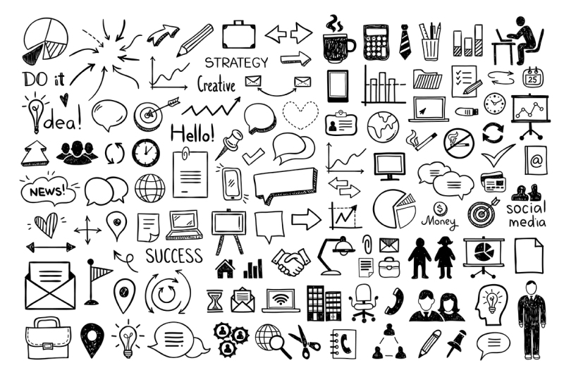 big-doodle-set-100-icons