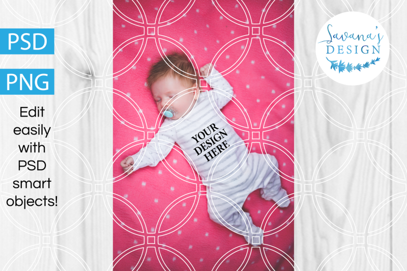 Free Baby Onesie Product Mockup PNG and PSD (PSD Mockups)