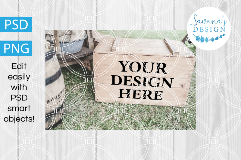 Free Wood Crates Design Mockup, PNG Mockup, PSD Mockup with Smart Objects (PSD Mockups)
