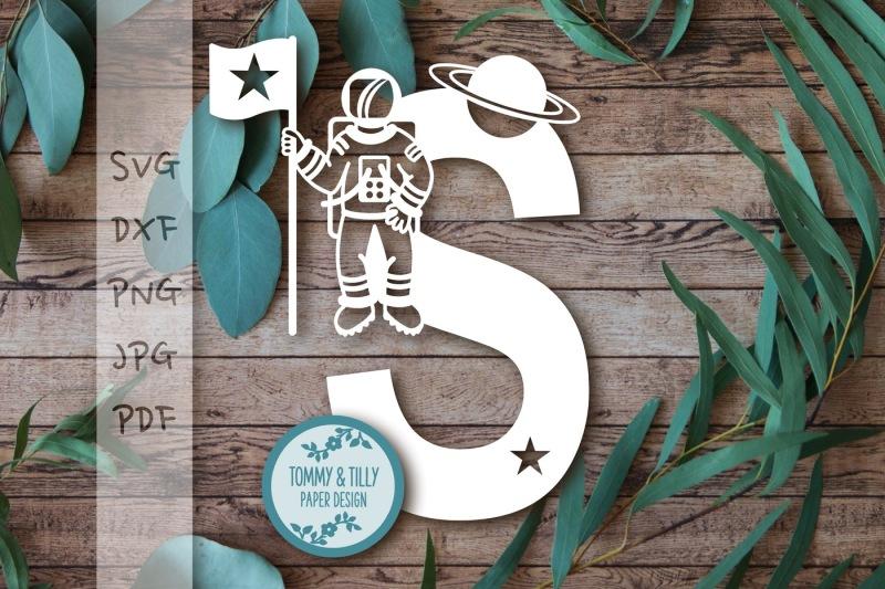 s-astronaut-letter-svg-dxf-png-pdf-jpg