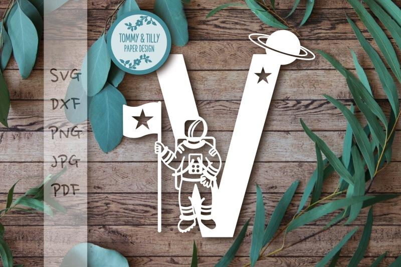 v-astronaut-letter-svg-dxf-png-pdf-jpg