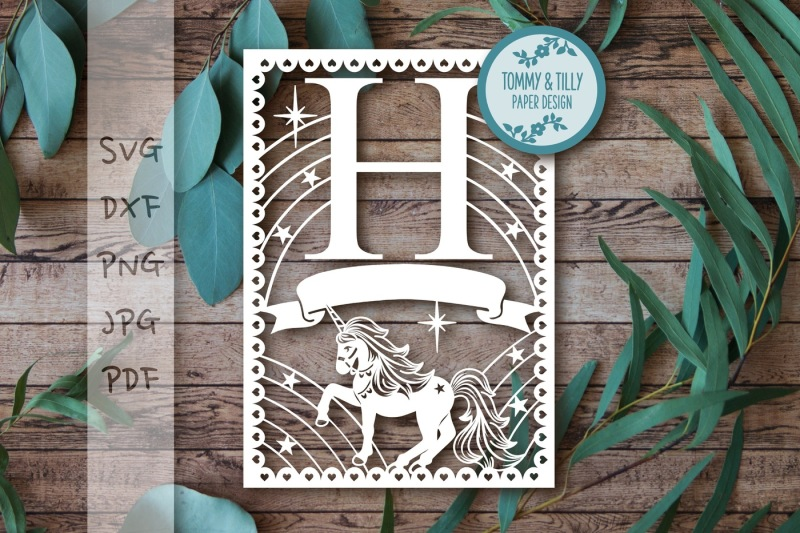 h-unicorn-letter-svg-dxf-png-pdf-jpg