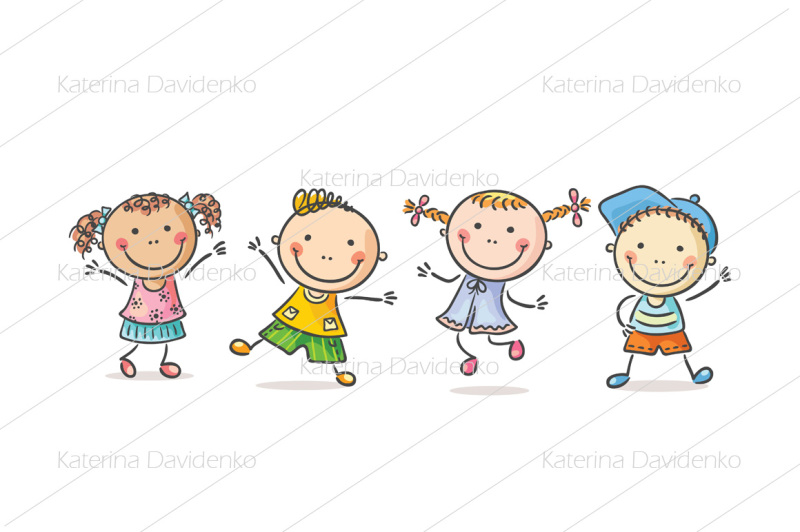four-happy-kids-dancing-or-jumping