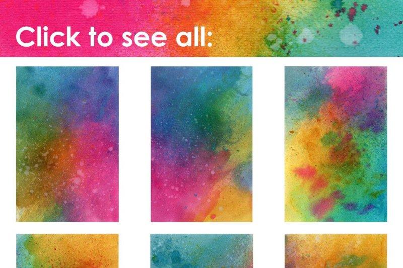 rainbow-watercolor-splatter-textures