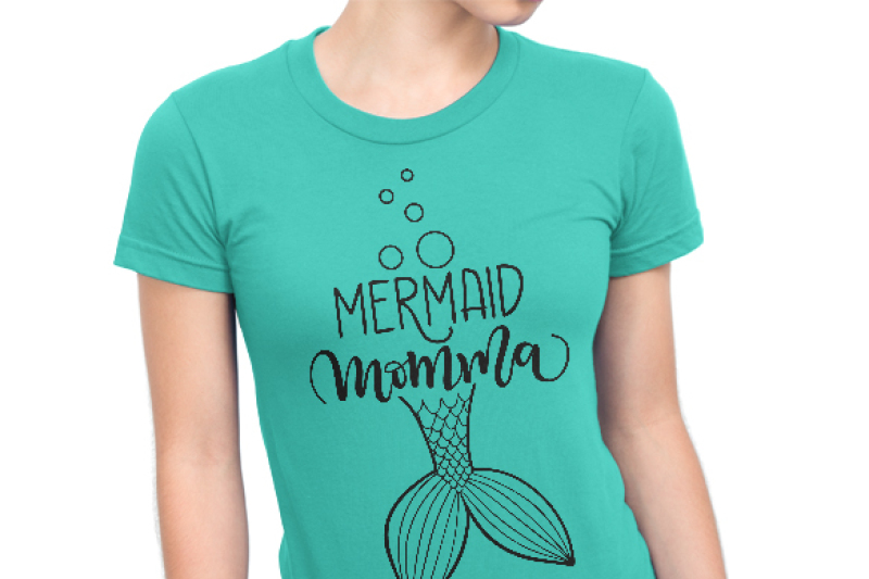 Mermaid Momma Svg Dxf Pdf Files Hand Drawn Lettered Cut