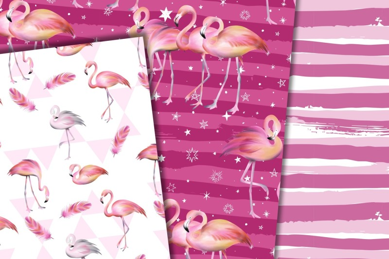 flamingo-digital-paper