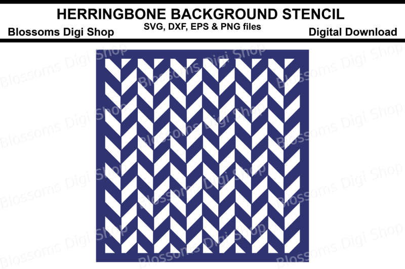 herringbone-background-stencil-svg-dxf-eps-and-png-files