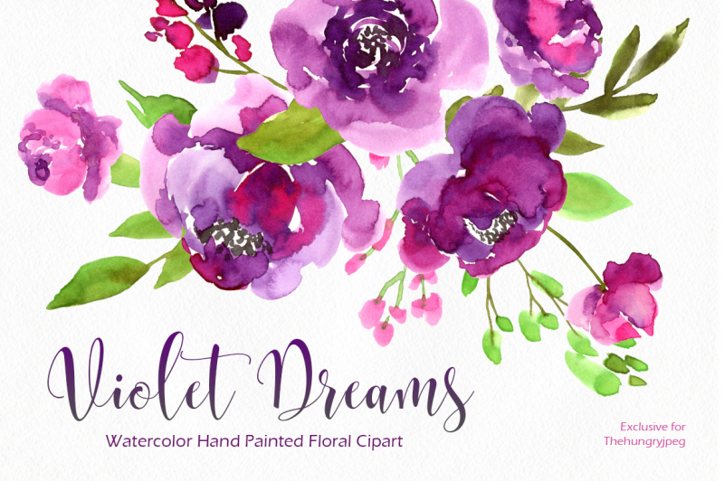 ultra-violet-watercolor-27-png-collection